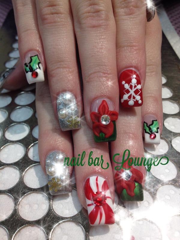 Oh So Festive nail art by Victoria Zegarelli nail bar Lounge