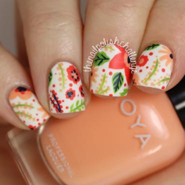 Floral Pattern Nail Art nail art by Kelli Dobrin