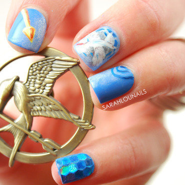 Mockingjay Part 1 Nails! nail art by Sarah S