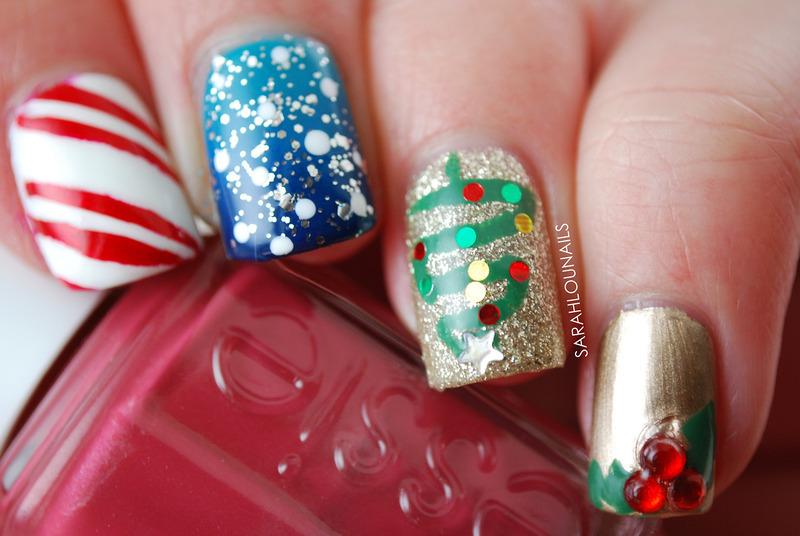 Christmas Nails! nail art by Sarah S