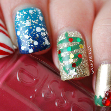 Christmas Nails! nail art by Sarah S