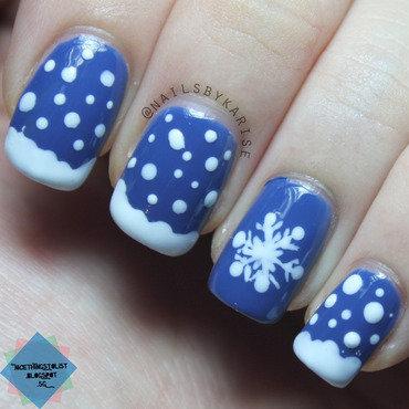 Nailartchallengedec snowflakes nail art thumb370f