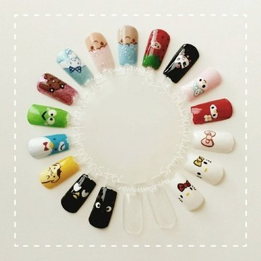Sanrio: Hello Kitty Con 2014 Nails nail art by snowbubblemonster