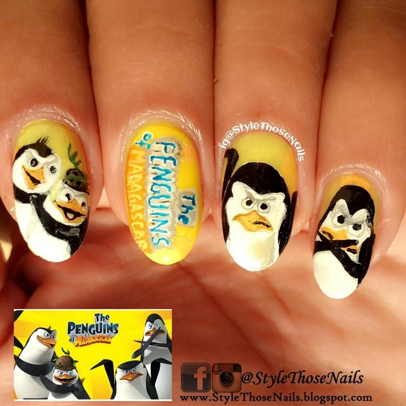 Penguins Of Madagascar Nails nail art by Anita Style Those Nails