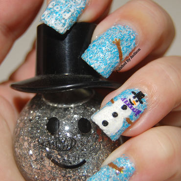 Snowman Nail Art nail art by Ashley Hoopes