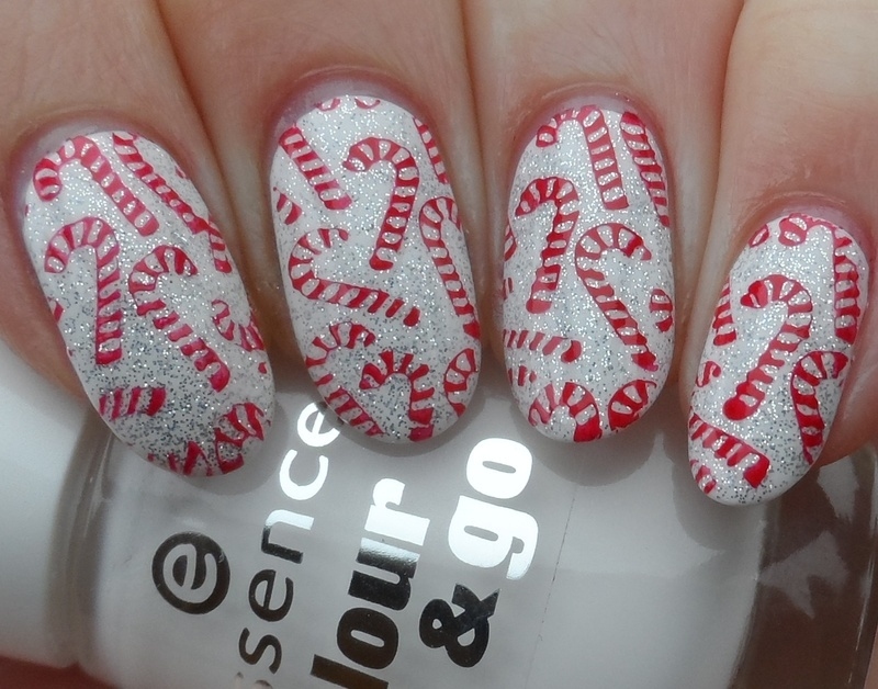 Candy Canes nail art by Plenty of Colors