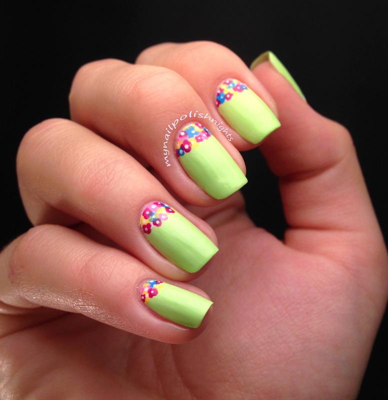 Flower pot nail art by Anna Malinina