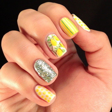 Lemon tree nail art by Anna Malinina