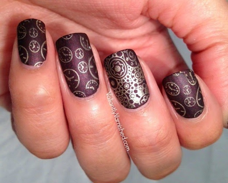 Steampunk Nail Art Inspired by Ticker by Lisa Mantchev nail art by Valiantly Varnished