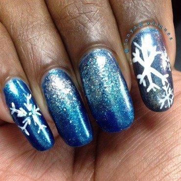 Snowflakes nail art by Tonya Simmons