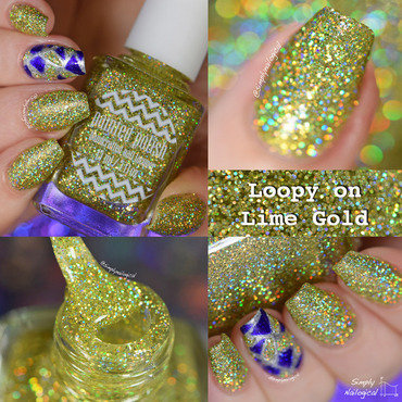 Paintedpolish loopyonlimegold collage thumb370f