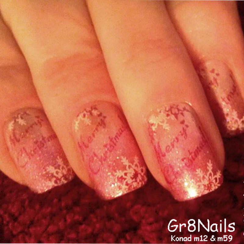 Merry Christmas nail art by Gr8Nails