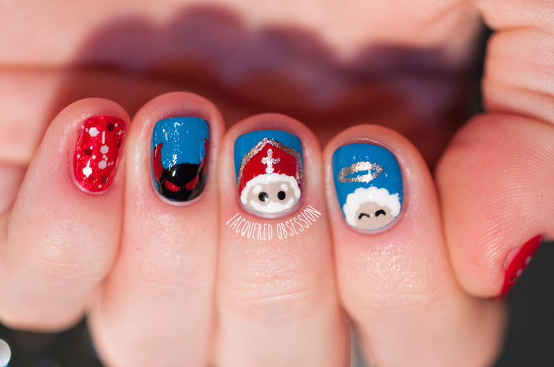 St Nicholas Day nail art by Lacquered Obsession