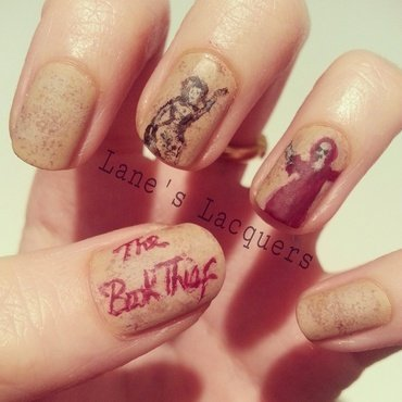 The Book Thief nail art by Rebecca