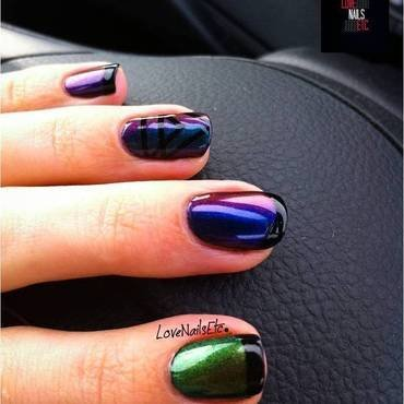 Modern french! nail art by Love Nails Etc