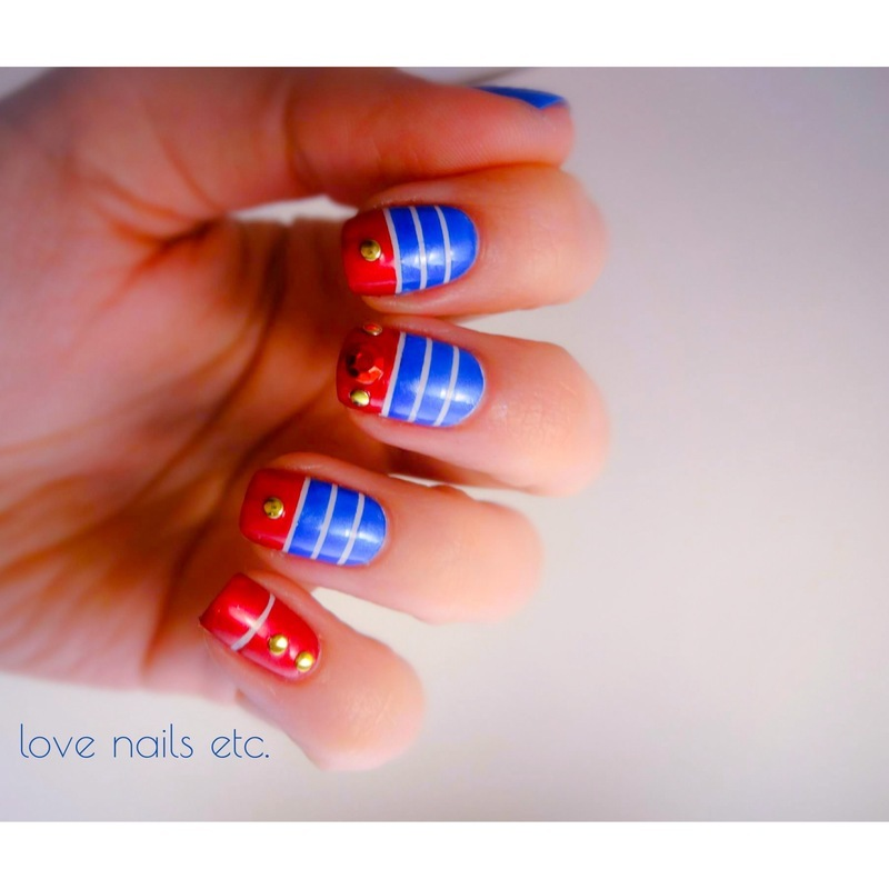 Louboutin Navy Rock! nail art by Love Nails Etc