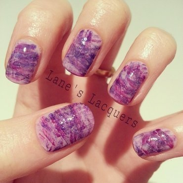 Purple Fan Brush nail art by Rebecca