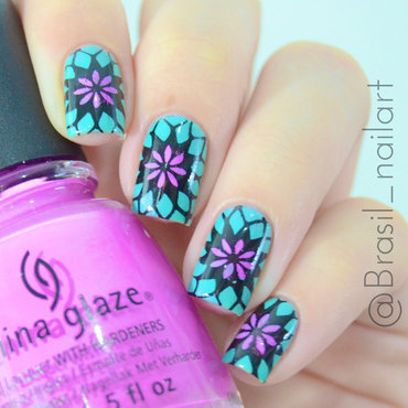 Kaleidoscope nail art by Brasil_nailart