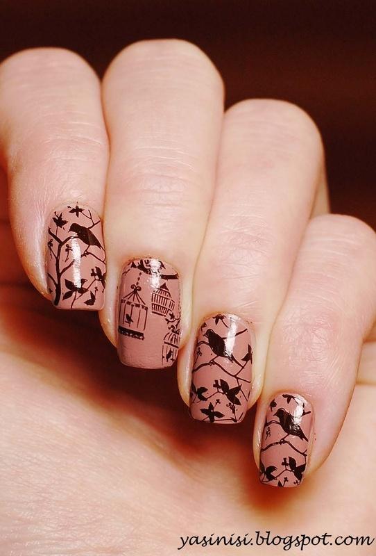 Birds nail art by Yasinisi