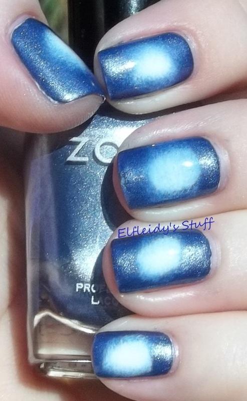 Radial gradient nail art by Jenette Maitland-Tomblin