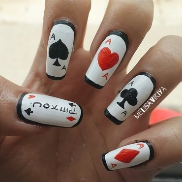 BLACK JACK nail art by melisa viriya