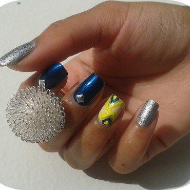 Skitlette ikat nail art by MimieS Nail