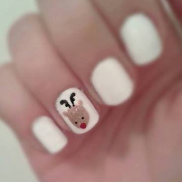 Reindeer nail art by Neve212