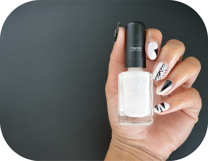 Black and White nail art by MimieS Nail