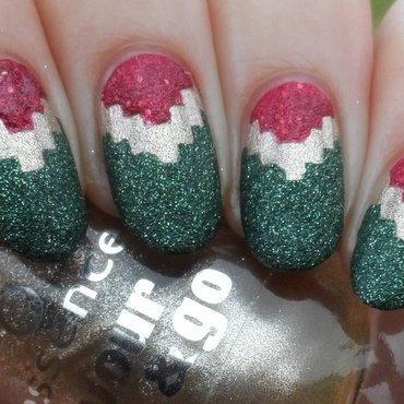 Christmas Tribal nail art by Plenty of Colors