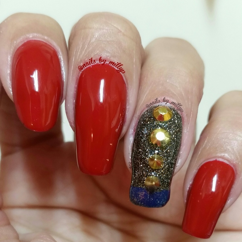 Seeing Red nail art by Milly Palma
