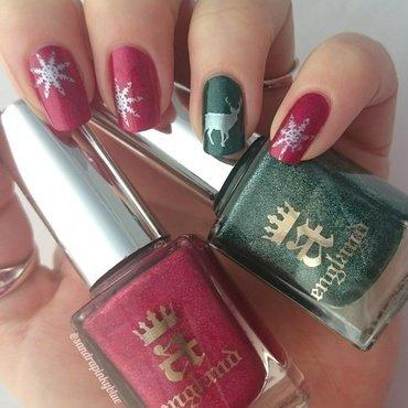 Christmas nail art nail art by Pinkyblue Nailart