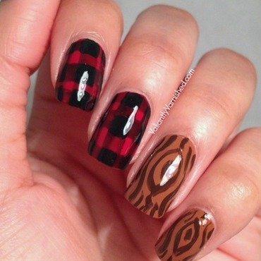 Lumberjack Nail Art nail art by Valiantly Varnished