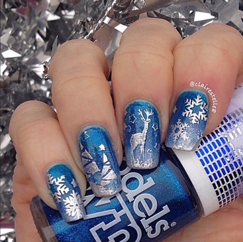 Winter Wonderland nail art by Claire O'Sullivan