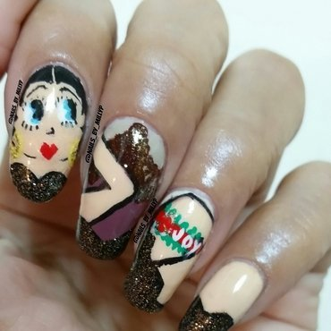 Betty Boop Couture nail art by Milly Palma