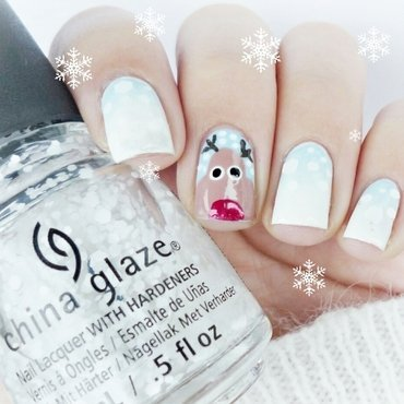 Reindeer nail art nail art by Romana