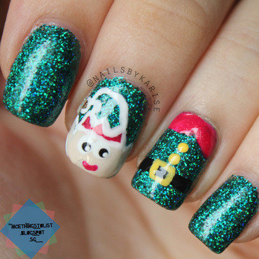 Cute Elf nail art by Karise Tan