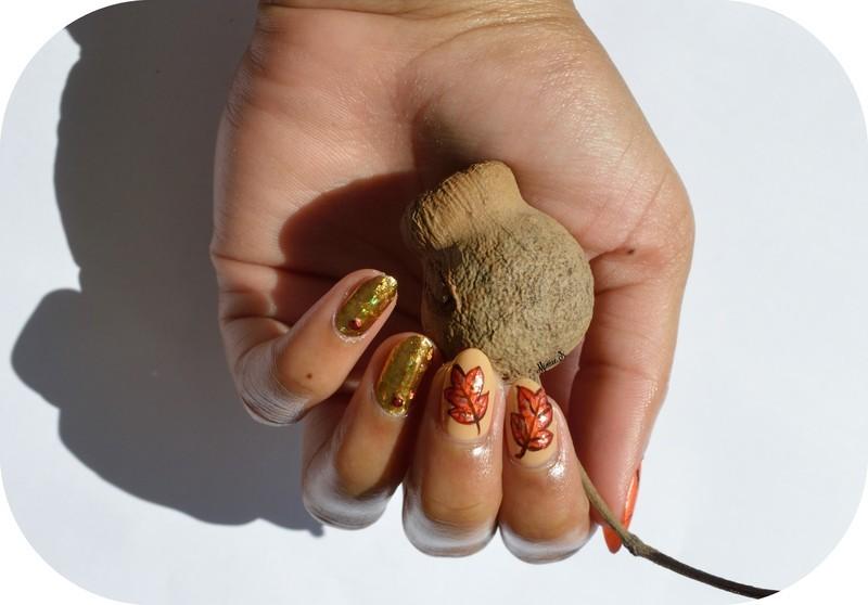 C'est l'automne ! nail art by MimieS Nail