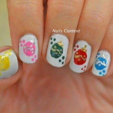 Christmas Ornaments nail art by NailsContext