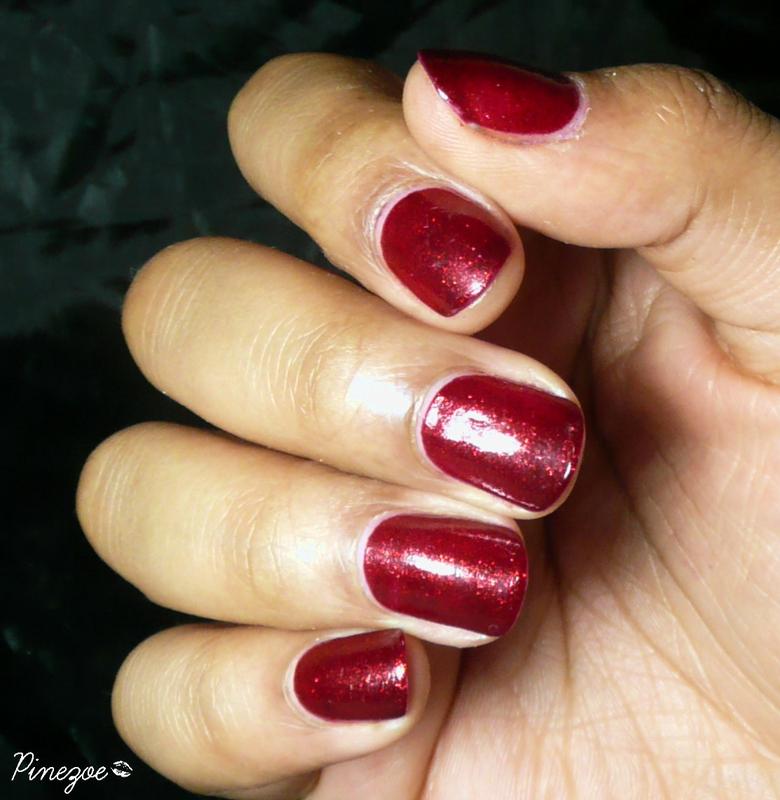 China Glaze Ruby pumps Swatch by Pinezoe