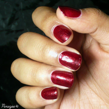 China Glaze Ruby pumps Swatch by Pinezoe