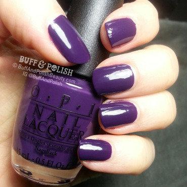 OPI A Grape Affair Swatch by Buff & Polish