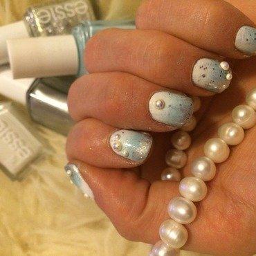 Frozen nail art by Ella