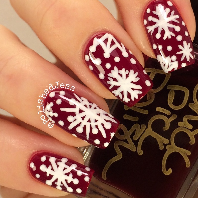 Let It Snow! nail art by PolishedJess