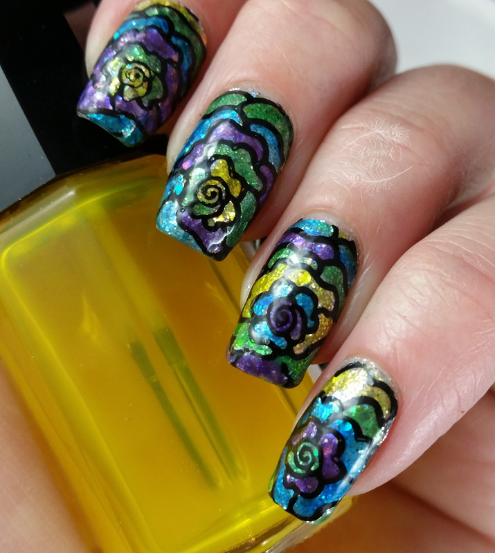 Stained Glass Jelly Glitter nail art by Serra Clark - Nailpolis ...