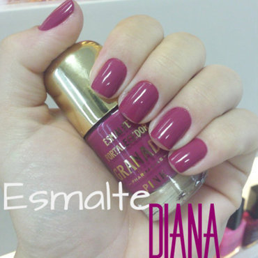 Pink Diana nail art by Charmaine Alves