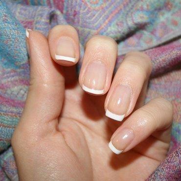 French Tips nail art by Polishisthenewblack