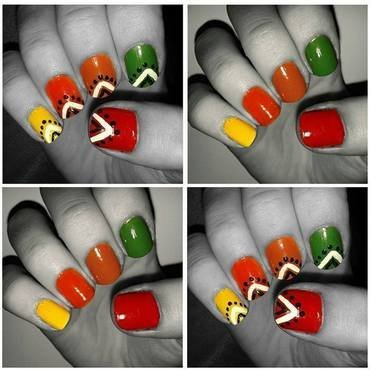Fall colors nail art by Neve212