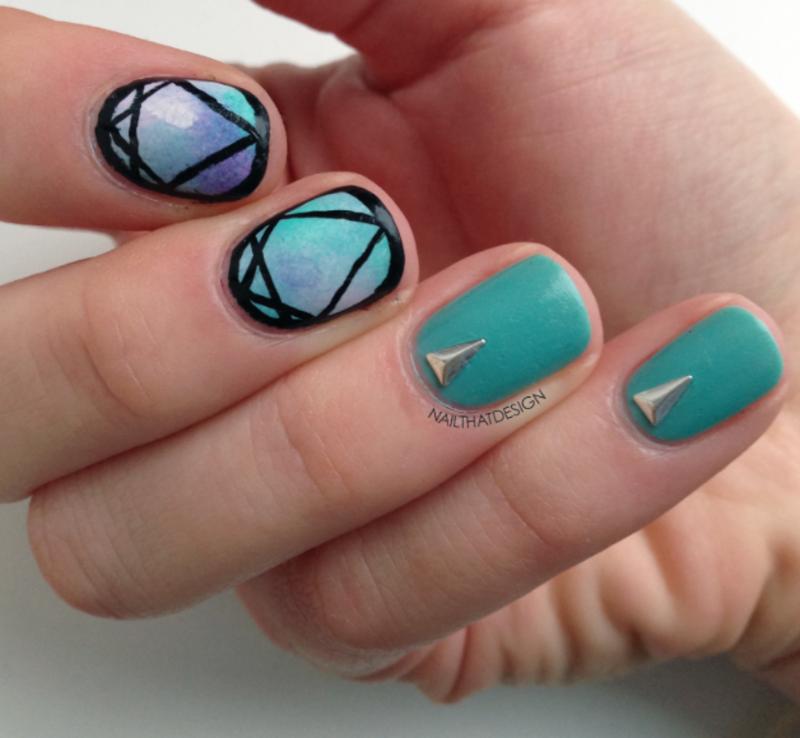 Simple Nail Art  nail art by NailThatDesign
