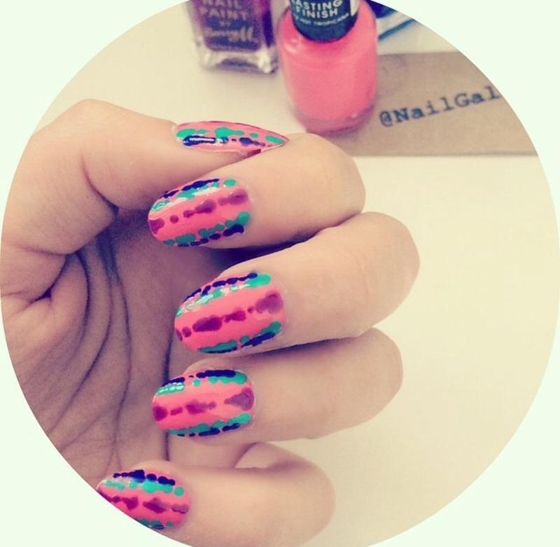 Pink Frog skin mani nail art by NailGals - Nailpolis: Museum of Nail Art