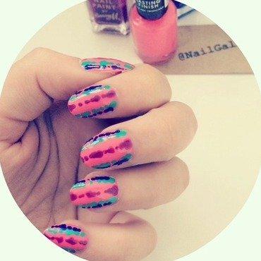 Pink Frog skin mani nail art by NailGals